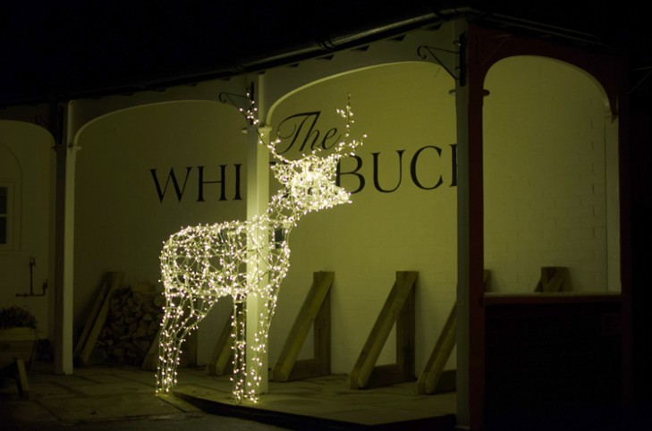 Rudolph outside The White Buck