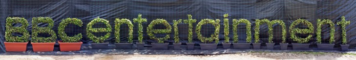 BBC Entertainment Topiary Letters